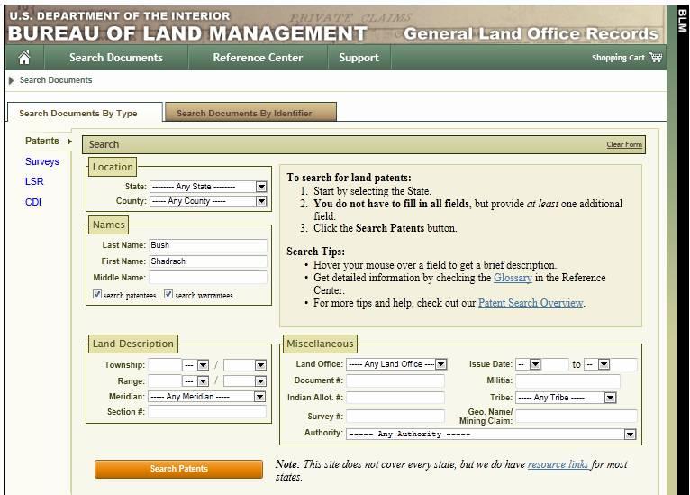 land patent 004
