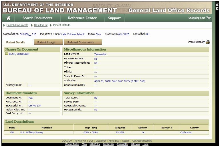 land patent 007