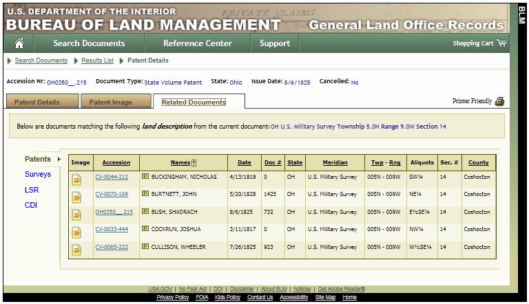 land patent 015
