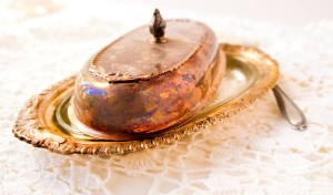 heirloom photo - butter dish