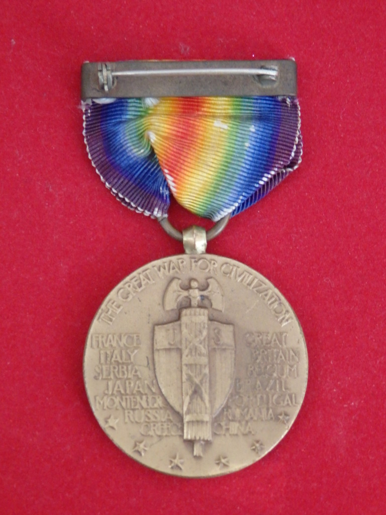 WWI Victory Medal back