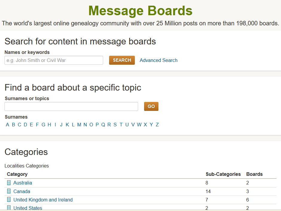 message board - 1