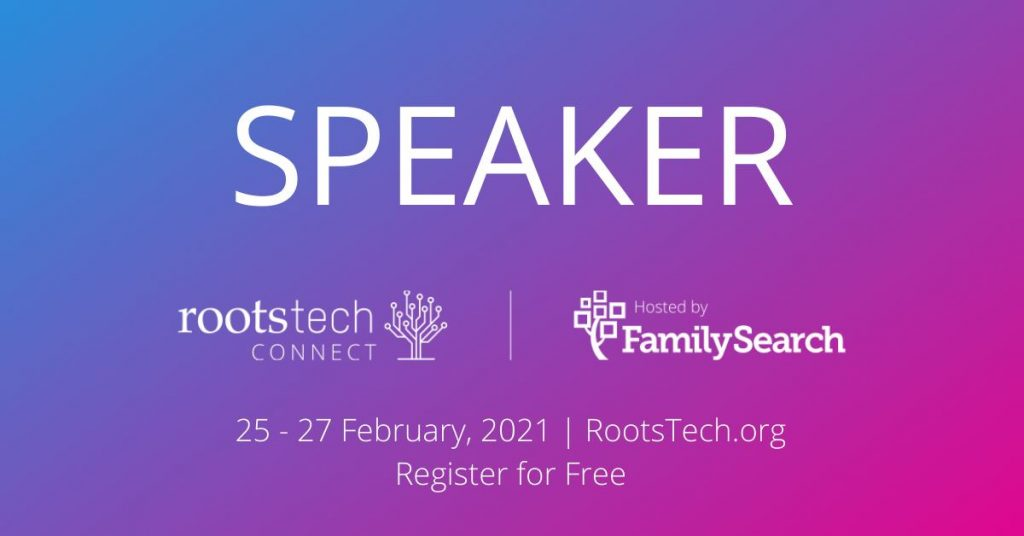 RootsTech Connect Speaker badge
